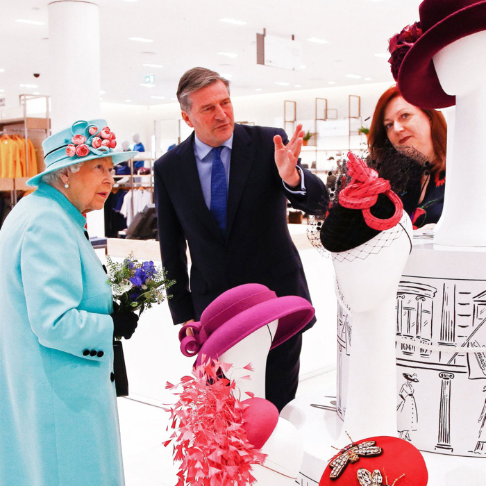 Behold  Queen Elizabeth Perusing Some Hats at the Mall 84d5fbc28c2b