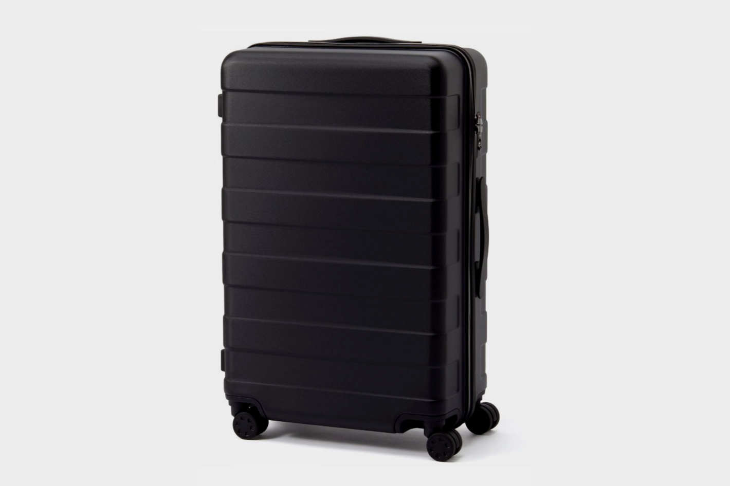Adjustable Handle Hard Carry Suitcase 62L Black