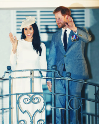 Meghan Markle and Prince Harry in Fiji.
