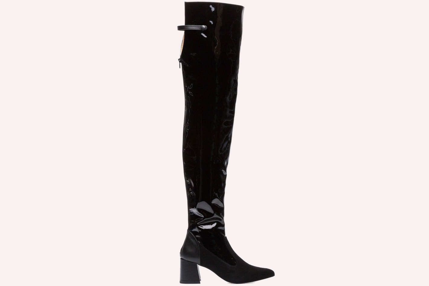 Kalda Black Eyja 80 Patent Leather Boots