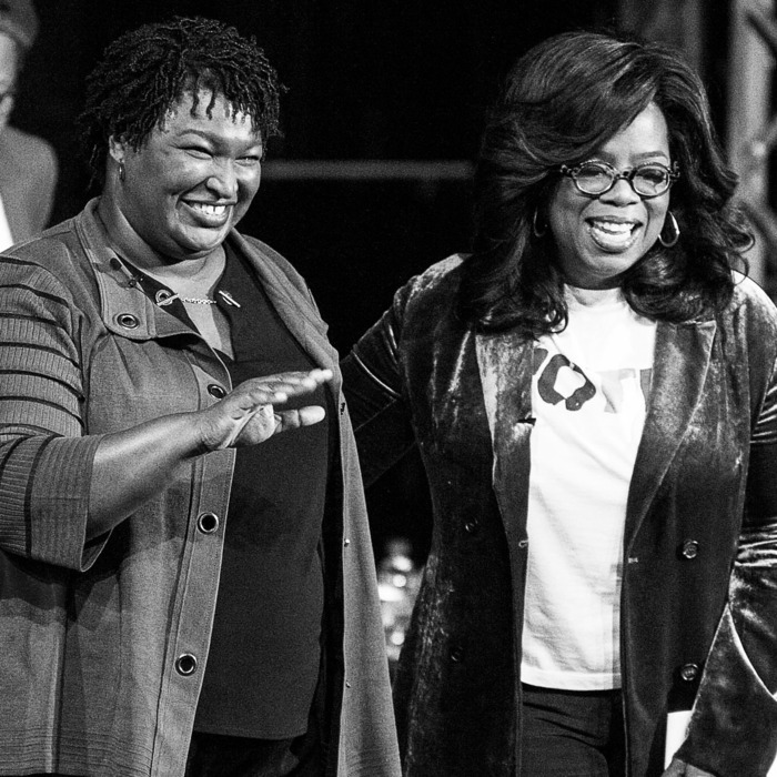 Stacey Abrams and Oprah.