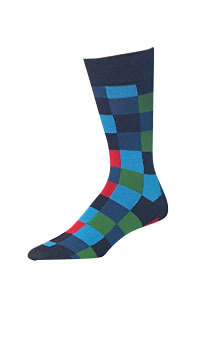 James Fiallo Patterned Dress Socks