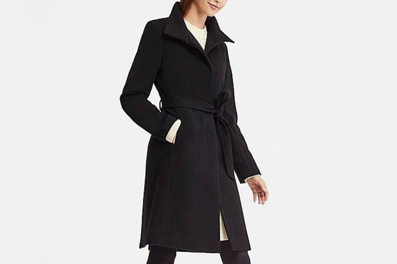 49d5bf97216 Women Cashmere Blended Stand Collar Coat