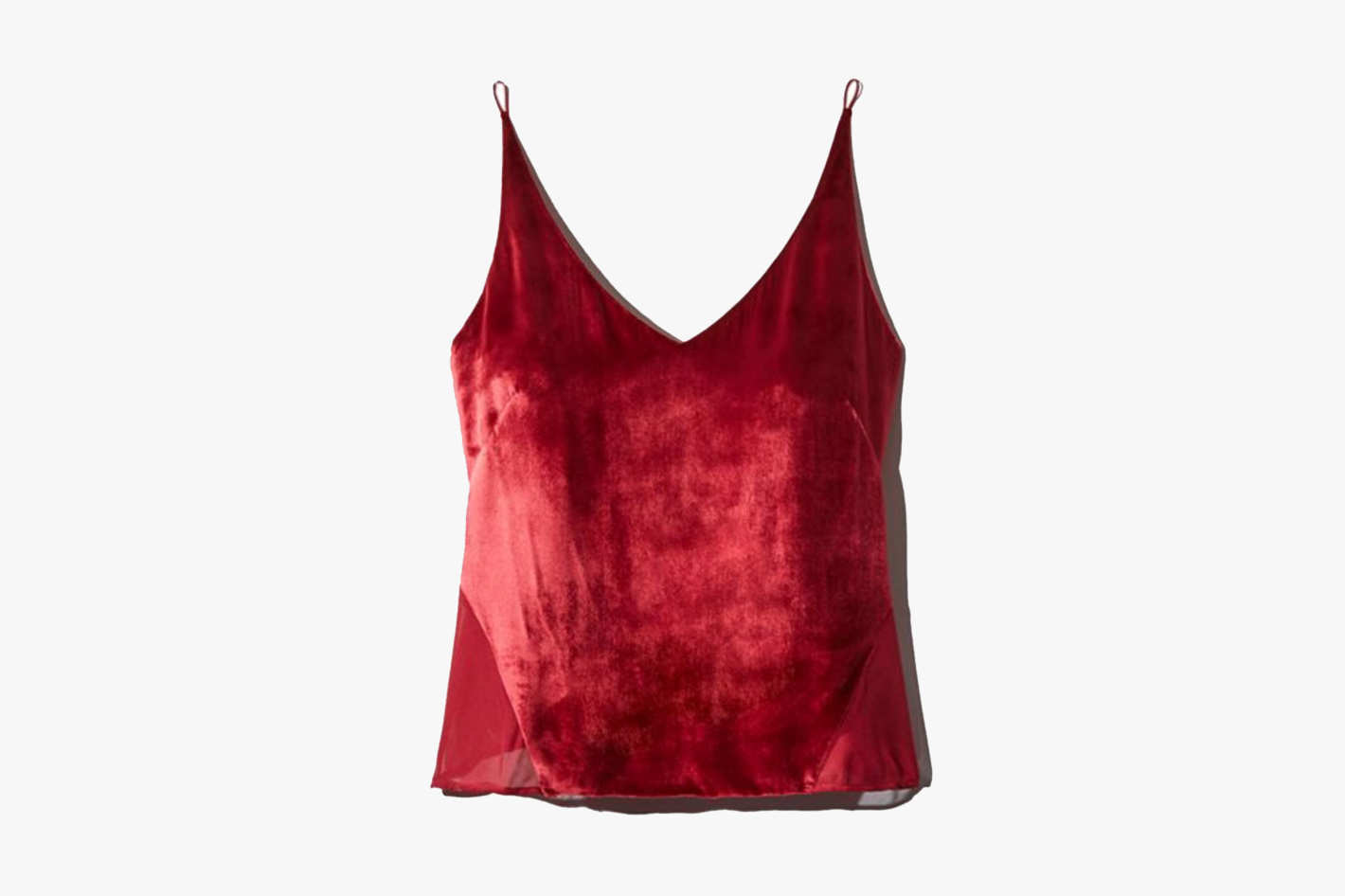 J Brand Lucy Velvet-Front Camisole Top