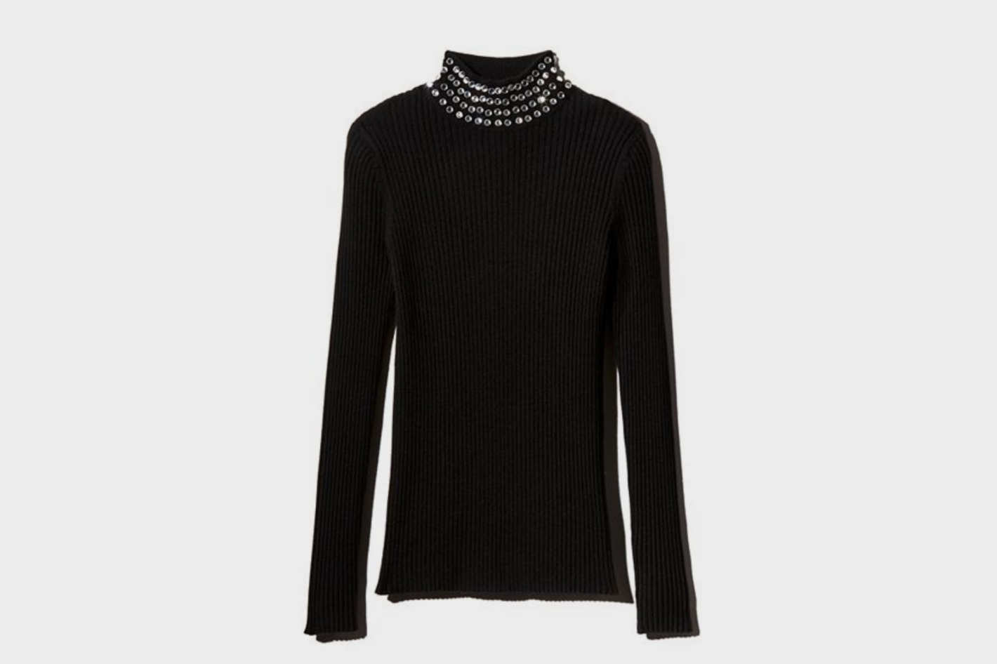 C by Bloomingdale's Embellished Cashmere Mock-Neck Sweater