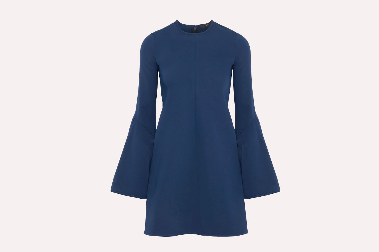 Ellery Preacher Fluted Ponte Mini Dress