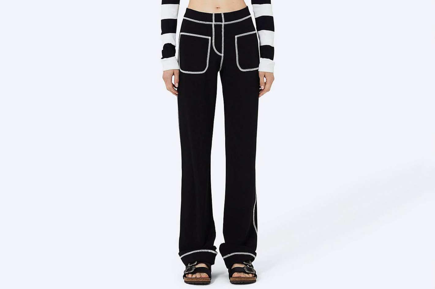 Patch-Pocket Cotton Jersey Pant