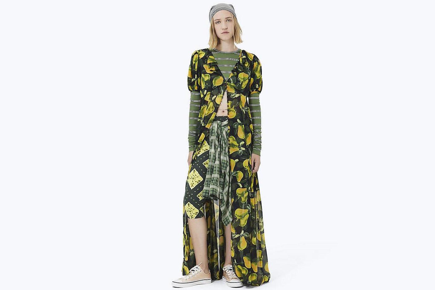 Printed Button-Down Dress