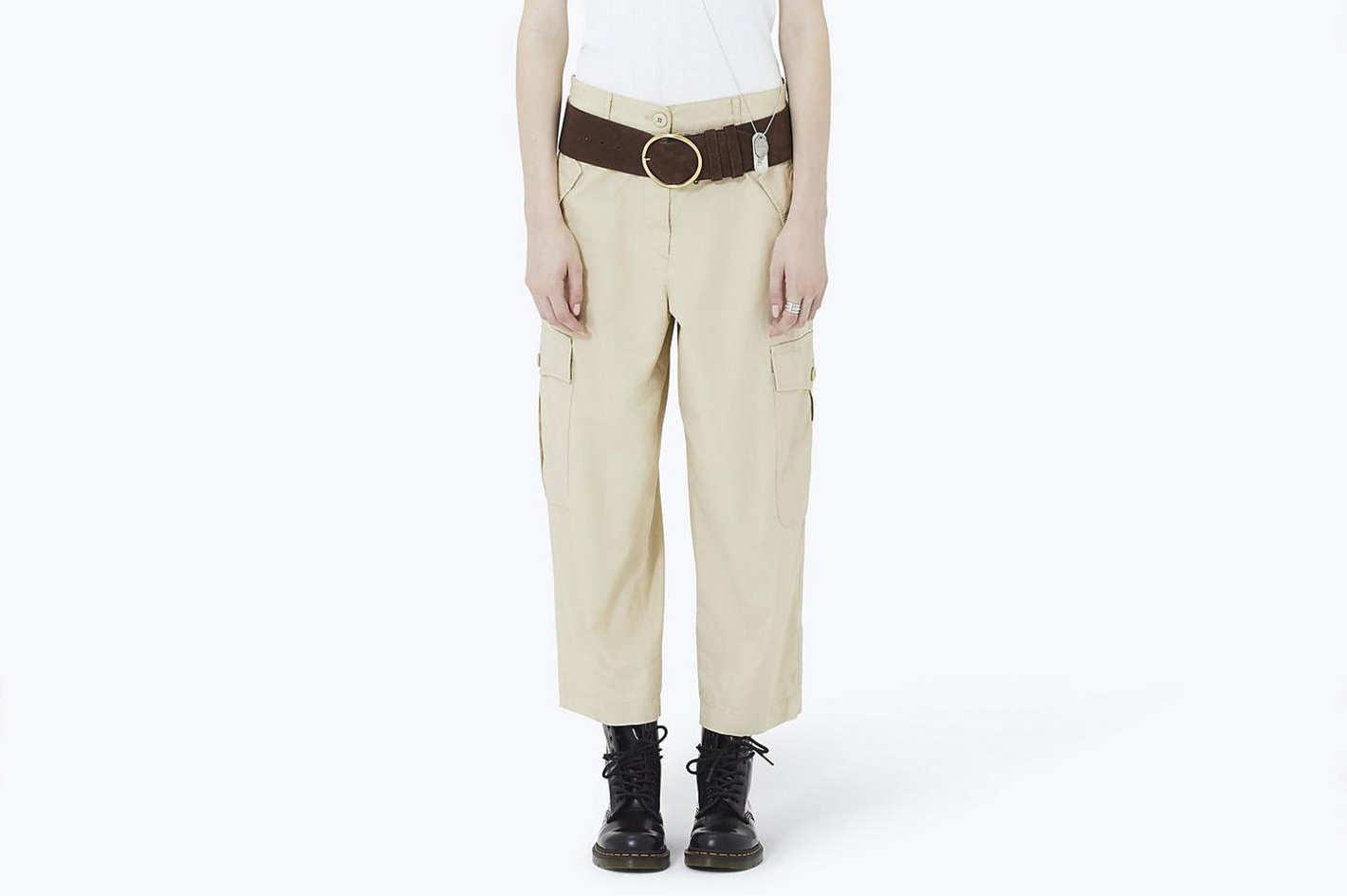 Wide-Leg Cargo Pant
