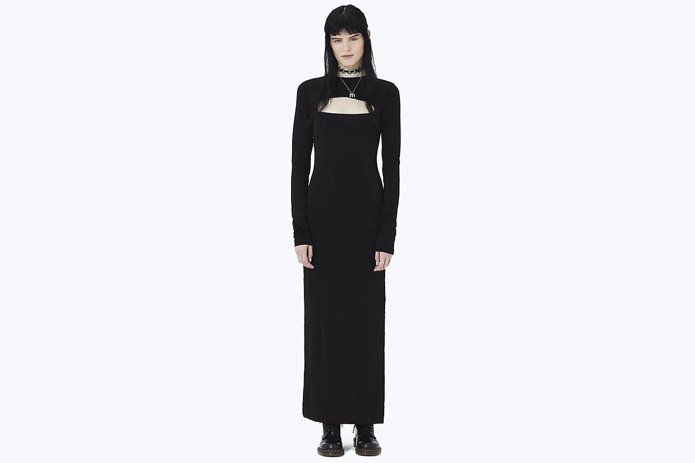 Yoke Cutout Knit Dress
