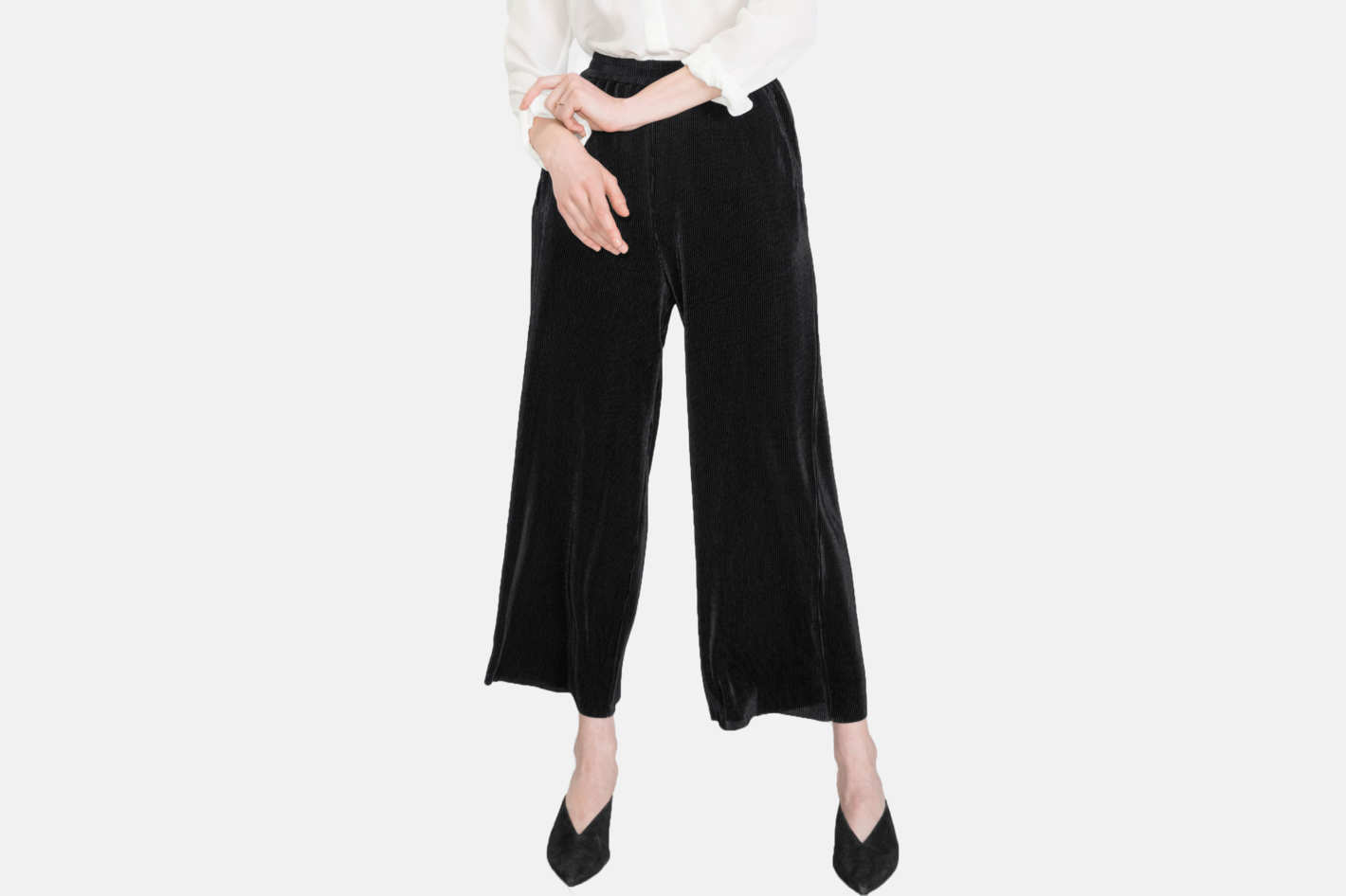 & Other Stories Pleated Metallic Pants