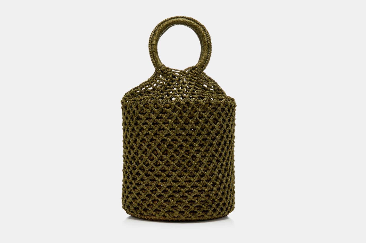 Sensi Studio M'O Exclusive Netted Straw Tote Bag