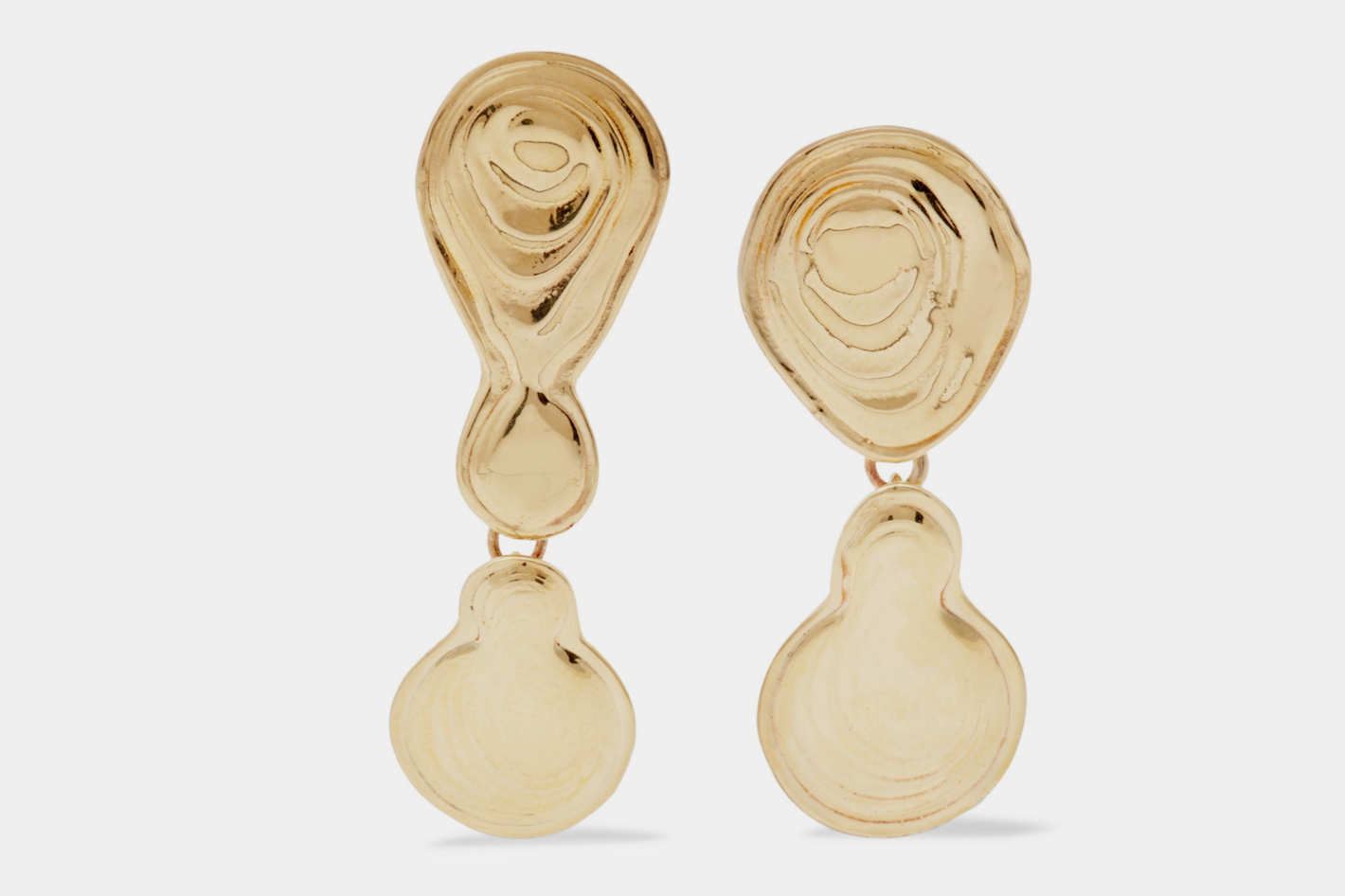 Leigh Miller Double Drop Gold Earrings