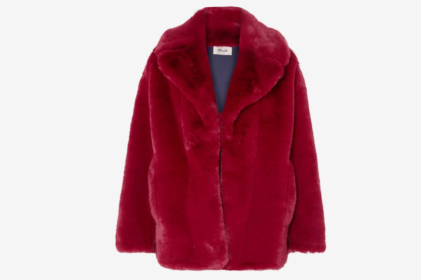 DVF Faux Fur Jacket
