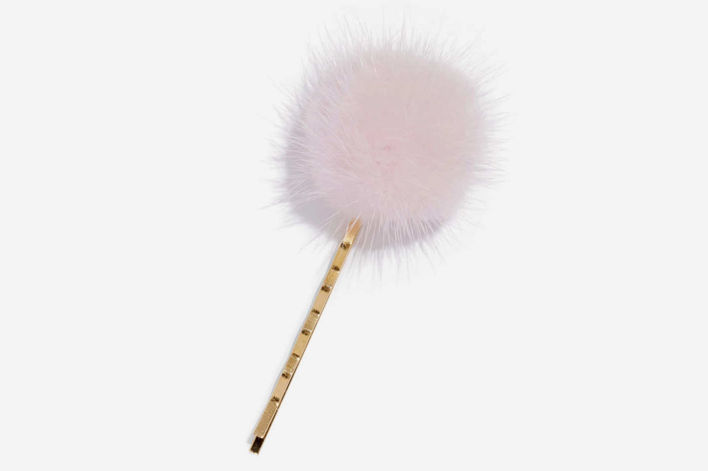 Wild & Woolly Genuine Mink Fur Pom Bobby Pin