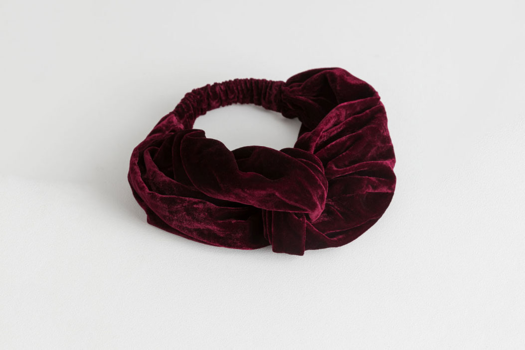 & Other Stories Velvet Twist Knot Hairband
