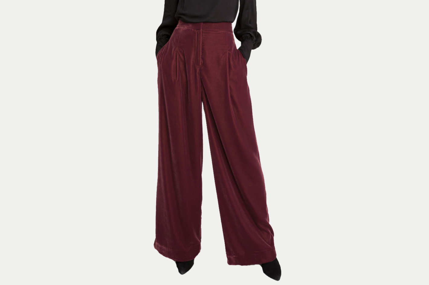 & Other Stories High Waisted Velvet Pants