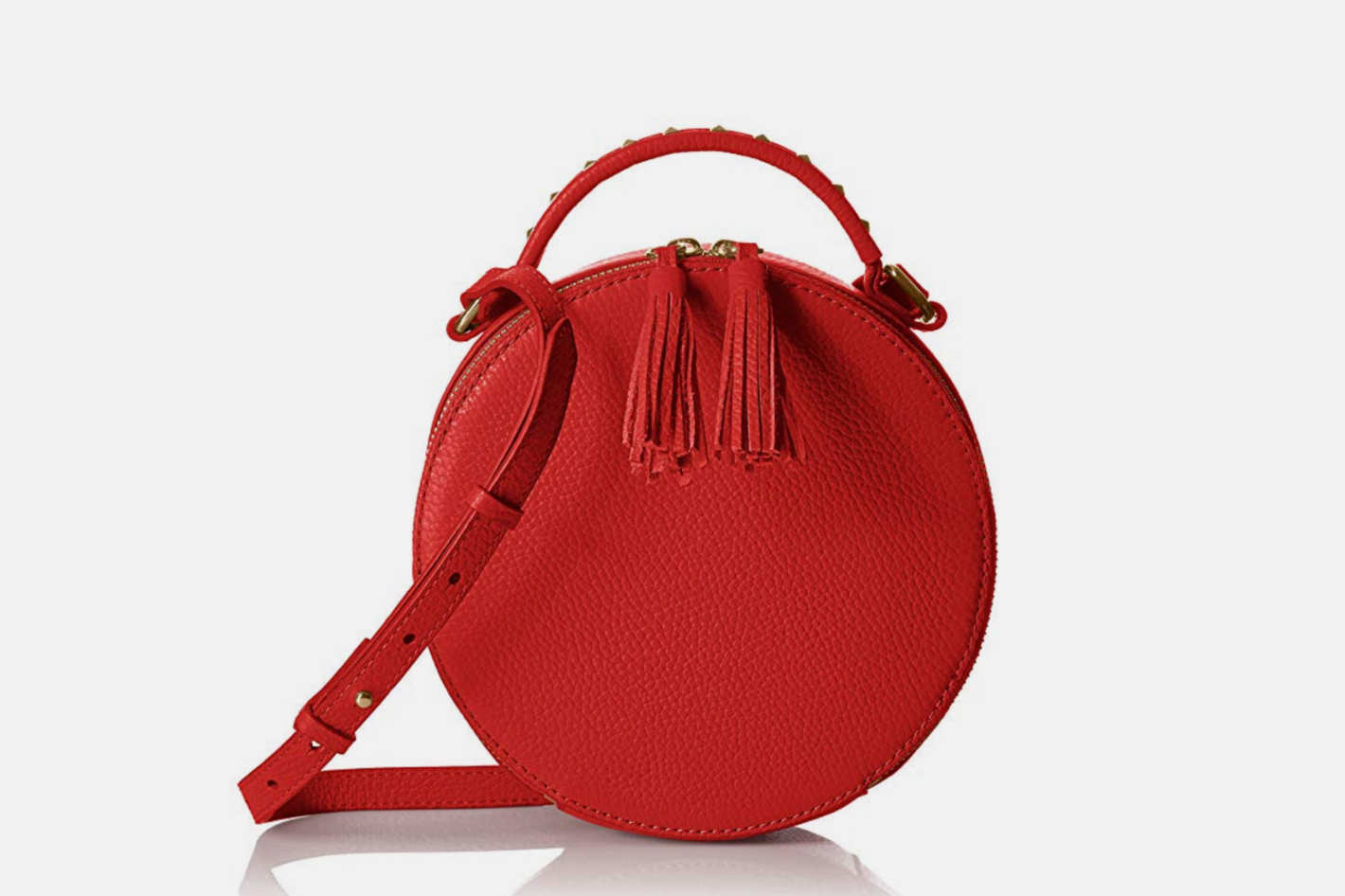 The Fix Hampton 2 Crossbody Leather Circle Bag