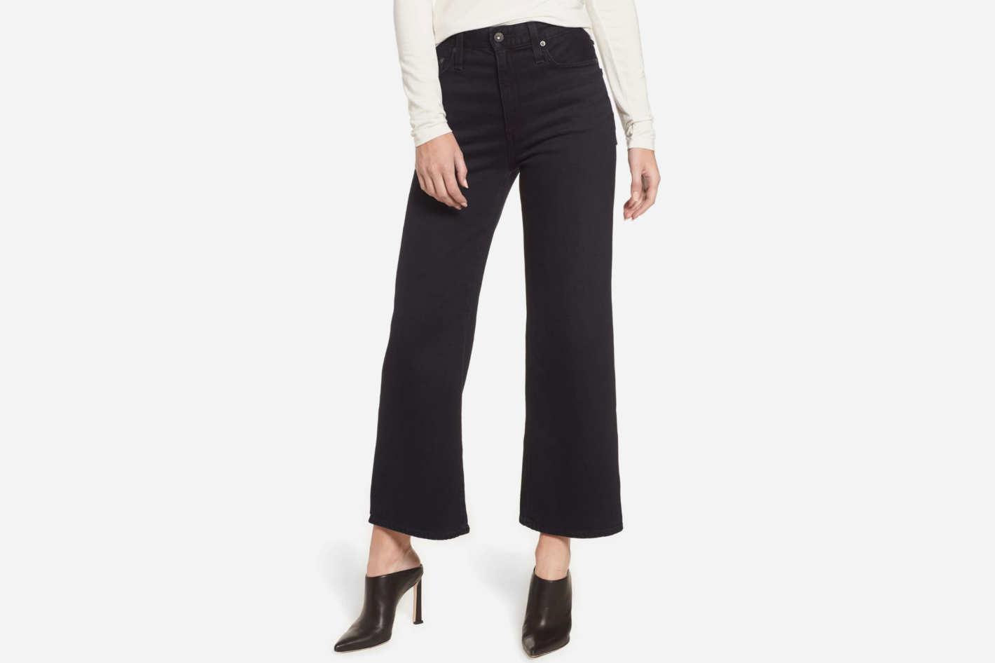 AG Etta High-Waist Crop Wide-Leg Jeans