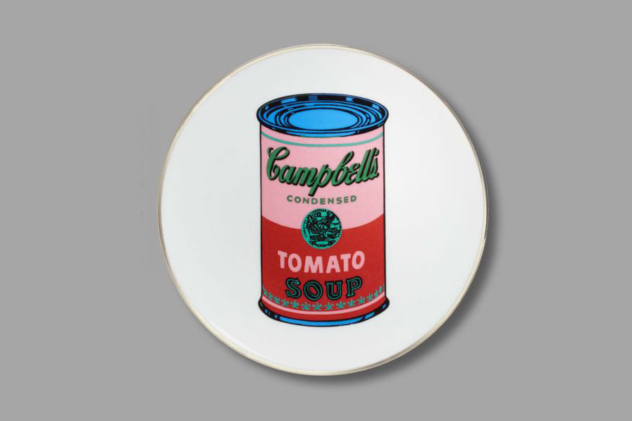 Andy Warhol Tomato Soup Can Porcelain Dinner Plate