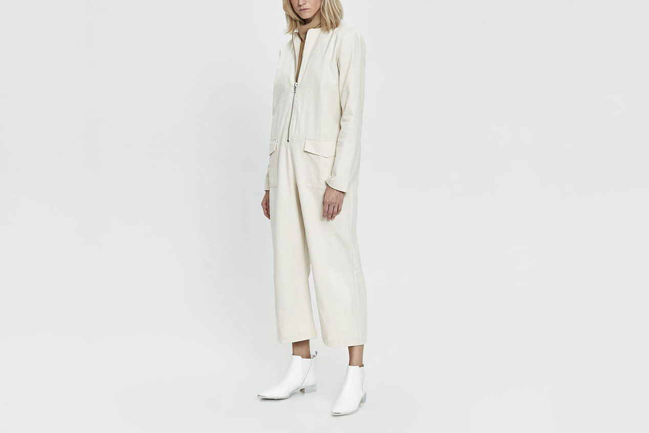 NEED Rickie Canvas Jumpsuit in Ivory