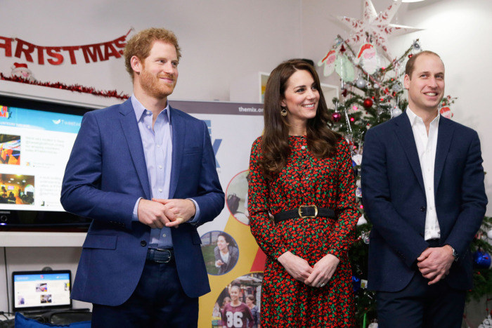 Prince Harry, Kate Middleton and Prince William.
