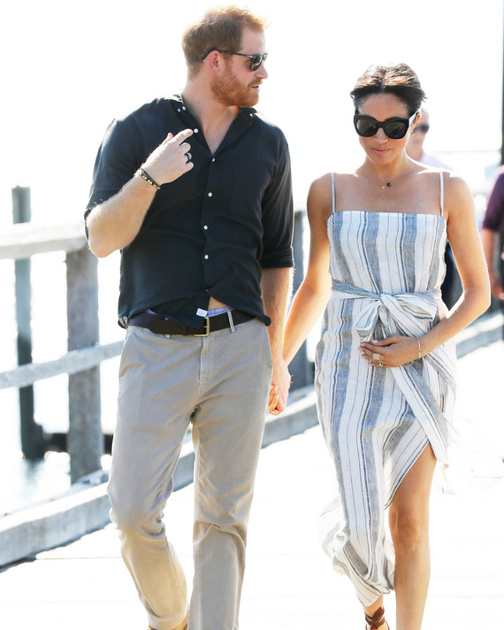 Prince Harry and Meghan Markle on the royal tour.
