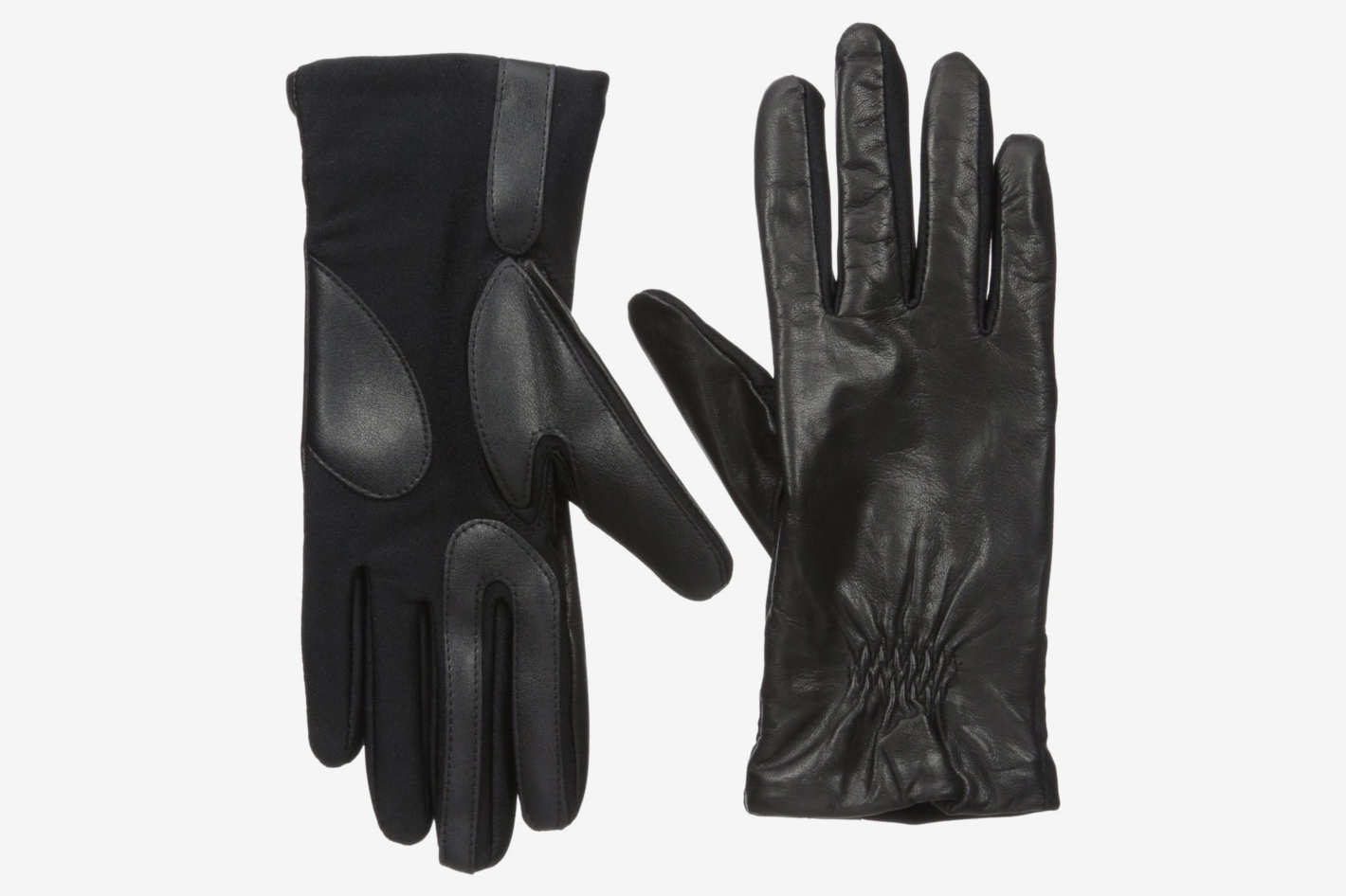 Isotoner Stretch Leather Touchscreen Gloves
