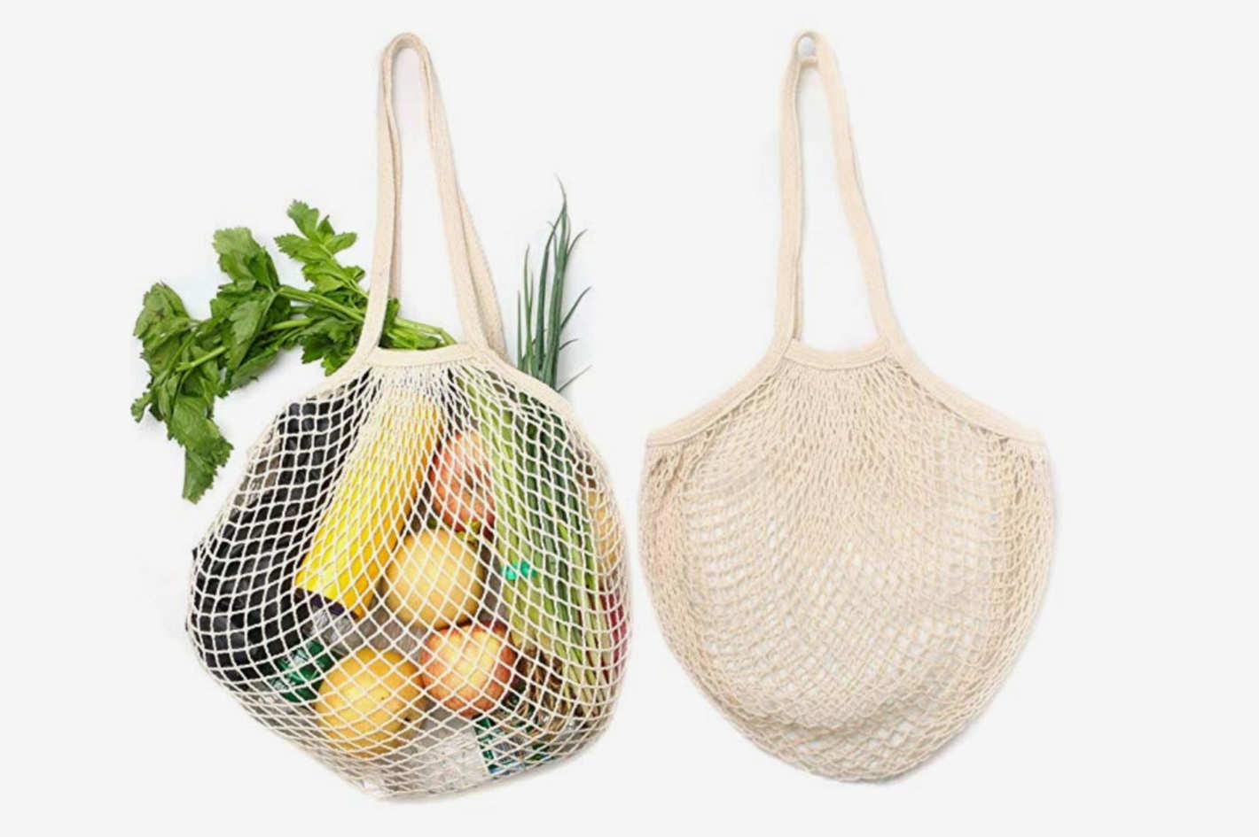 Reusable Organic Cotton Grocery Bags