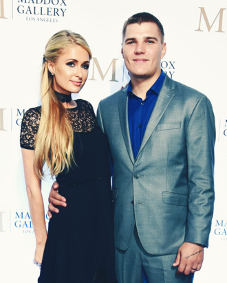 Paris Hilton and Chris Zylka.