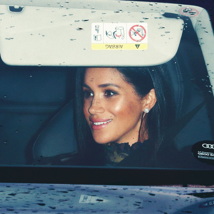 Prince Harry and Meghan Markle arriving at Buckingham Palace.