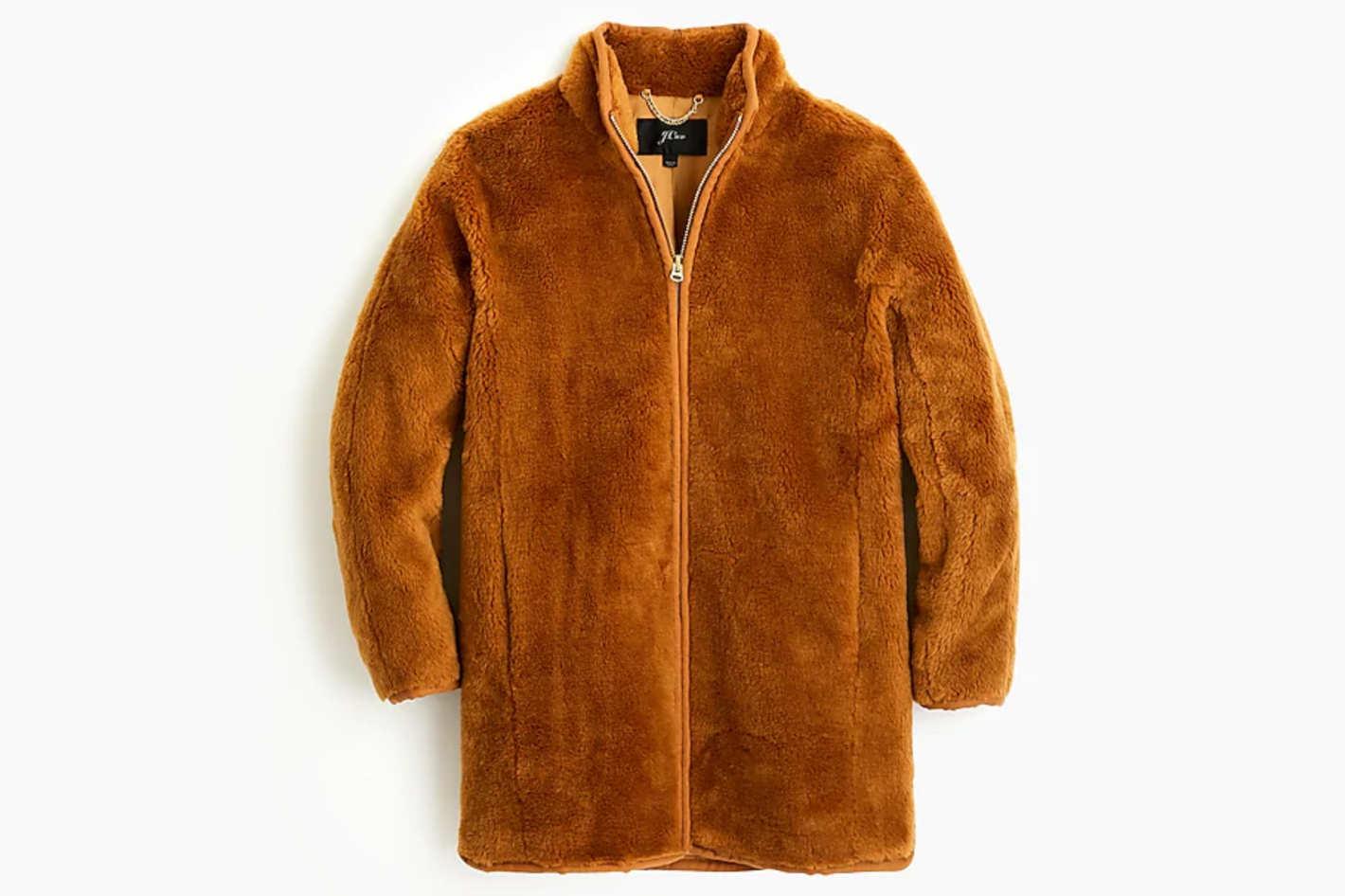 Zip-Up Teddy Coat