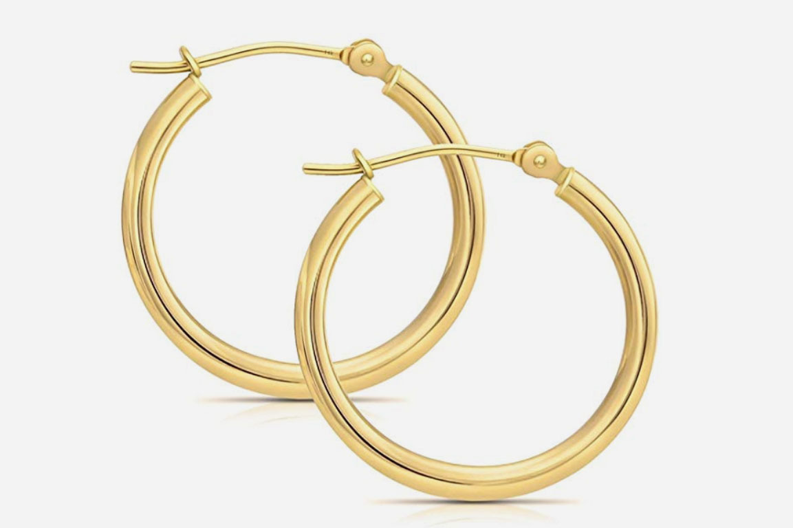 Art and Molly 14K Gold Hoop Earrings