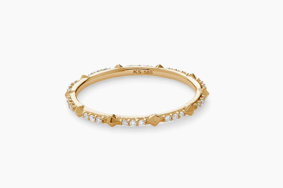 Kendra Scott 14K Gold Astrid Diamond & Stud Ring