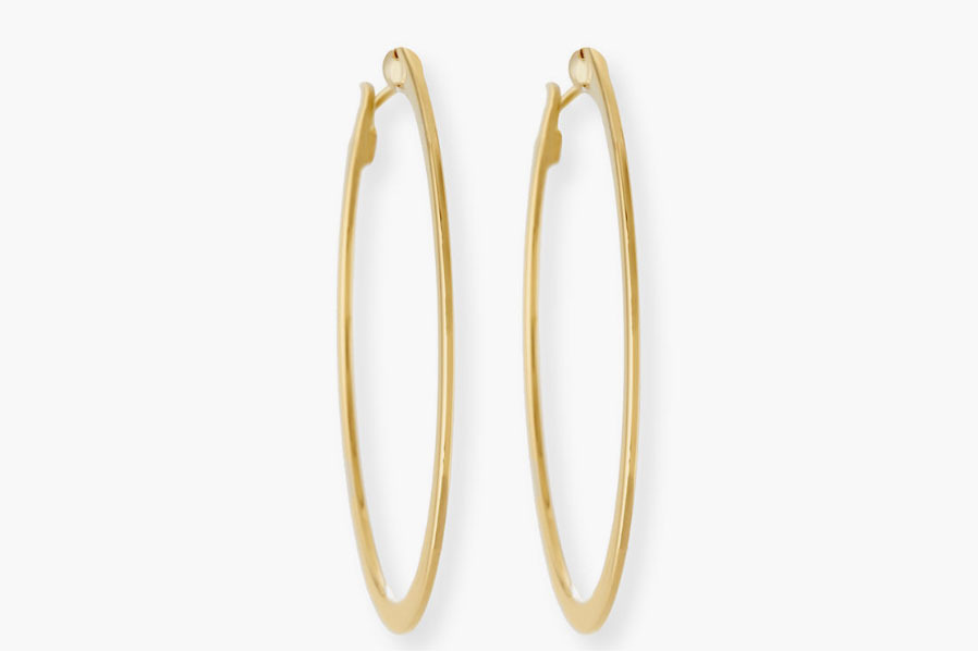 Roberto Coin White Gold Hoop Earrings