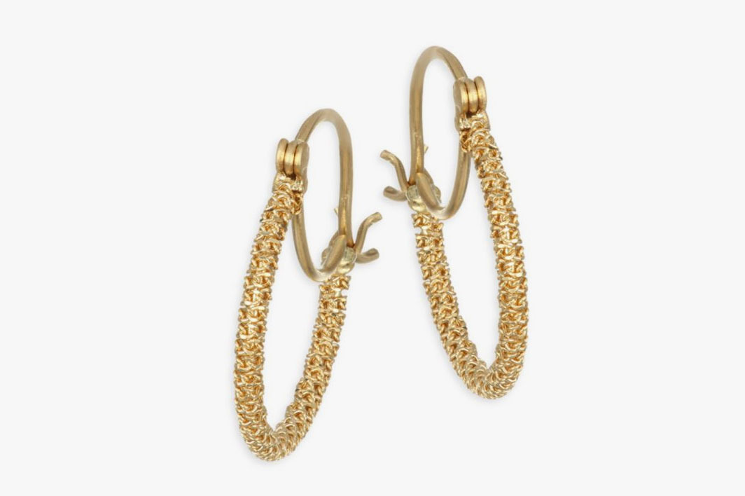Amali 18k Yellow Gold Stardust Knotted Hoops