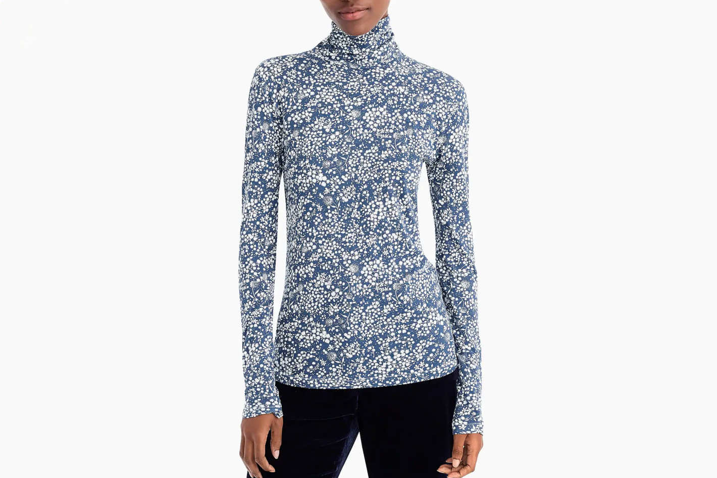 Tissue Turtleneck T-Shirt in Floral
