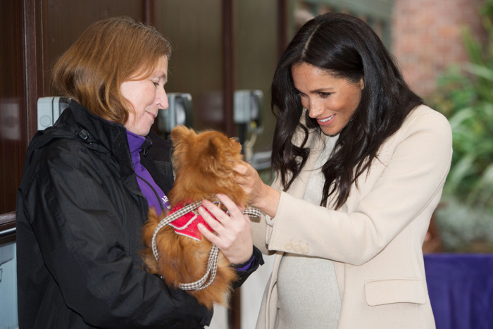 Meghan Markle with another dog.