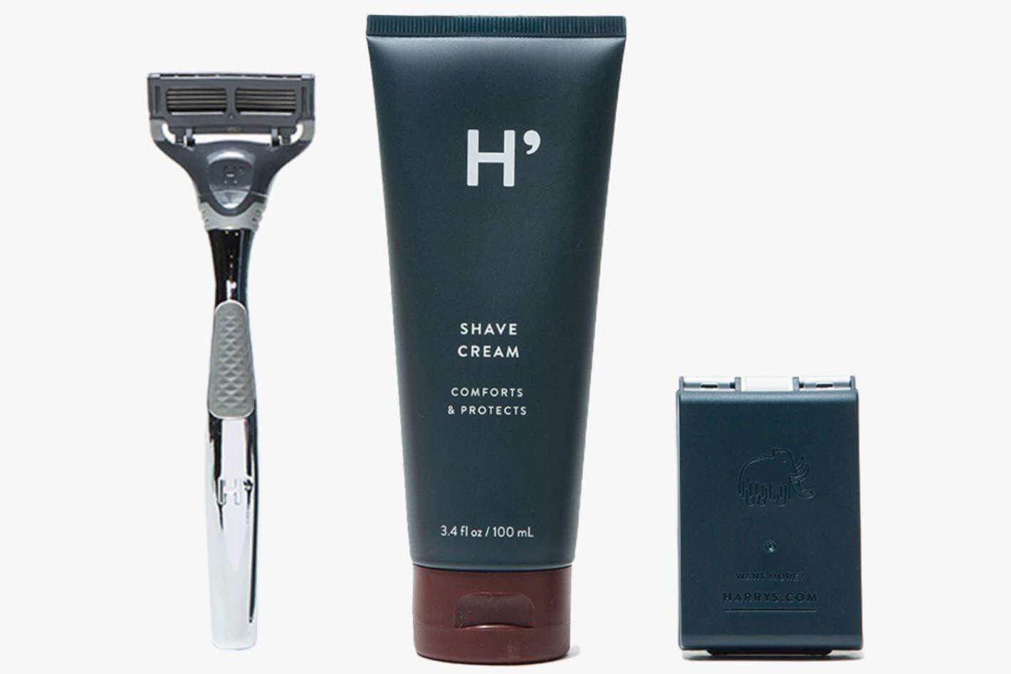 Harry's Chrome Winston Set + Shave Cream