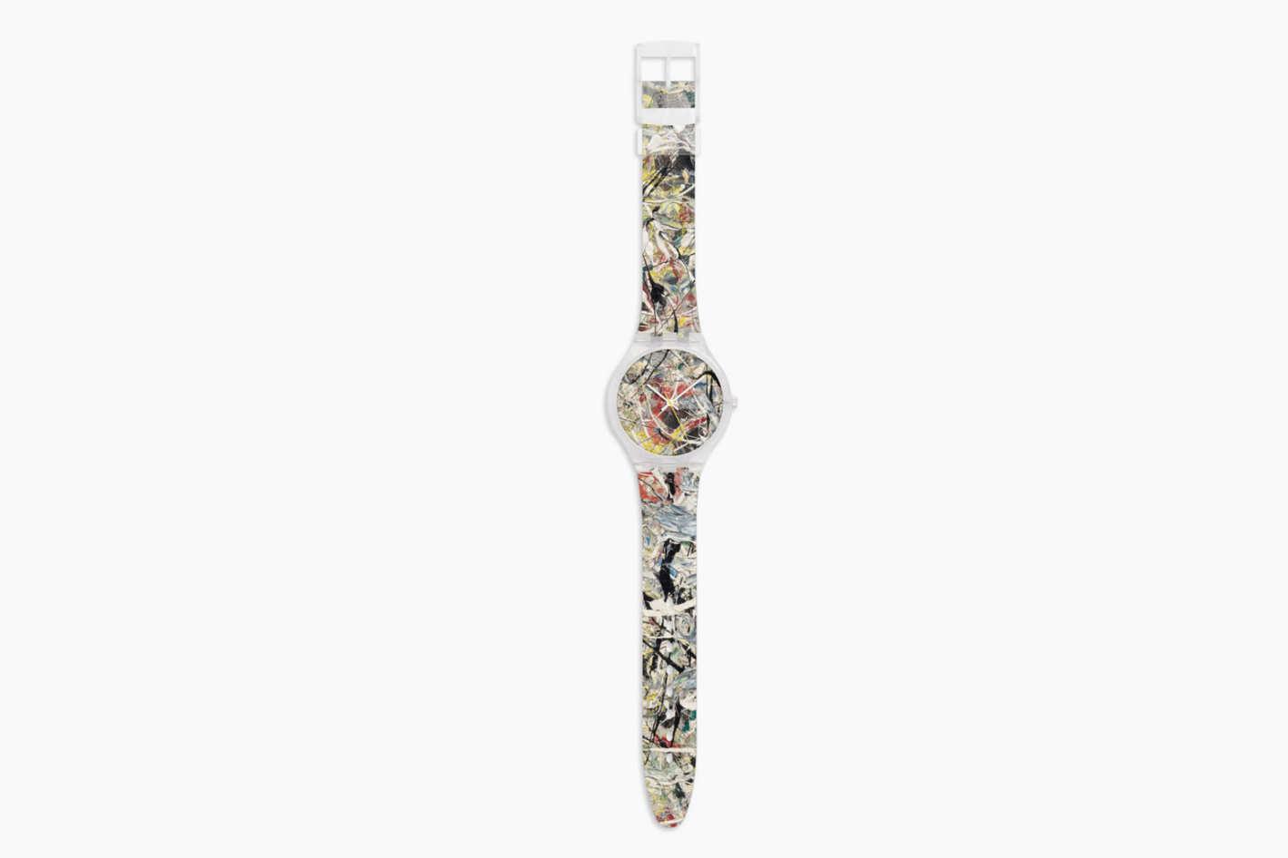 Pollock White Light Watch