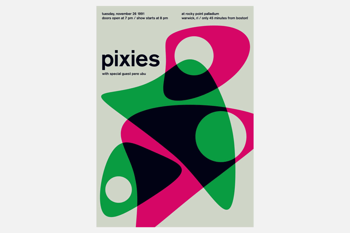 "Swissted ""Pixies at Rockpoint Palladium, 1991"" Print"