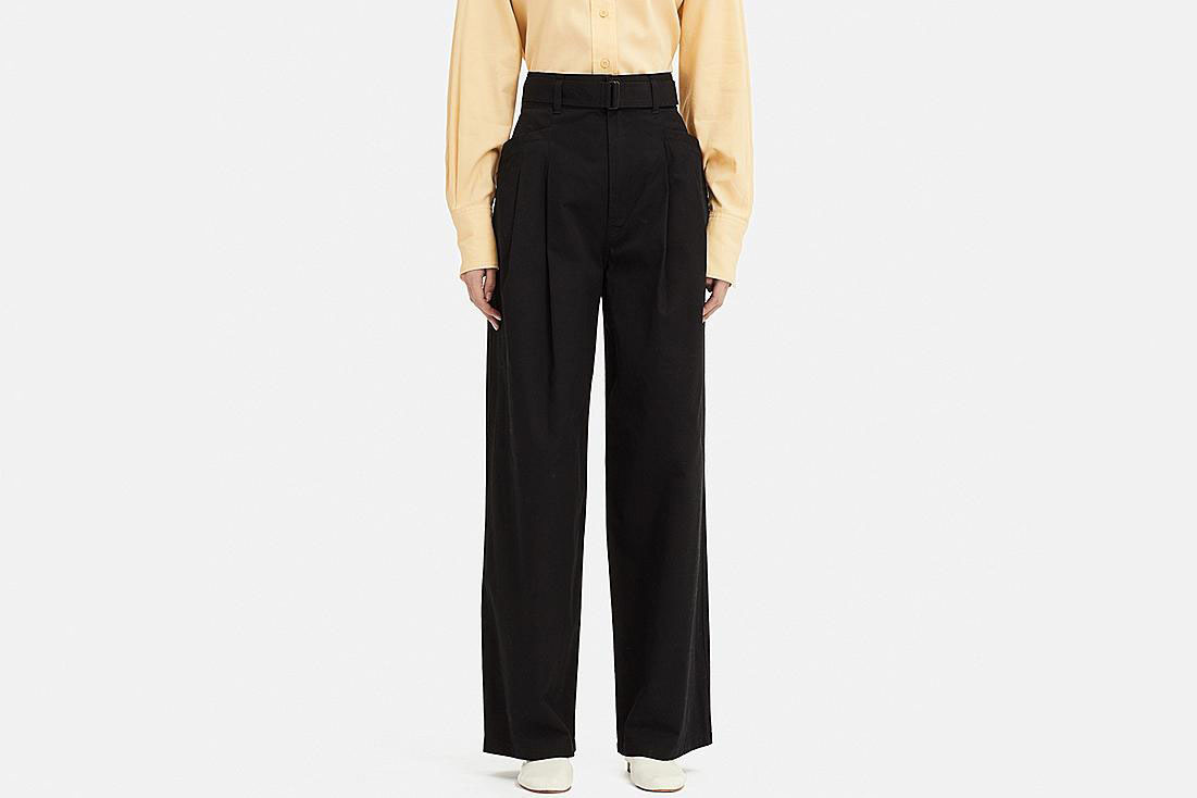 Women U High-Waist Two Tucked Pants