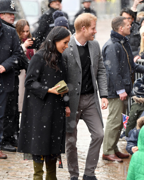 Meghan Markle Prince Harry Step Out In Snow Bristol Event