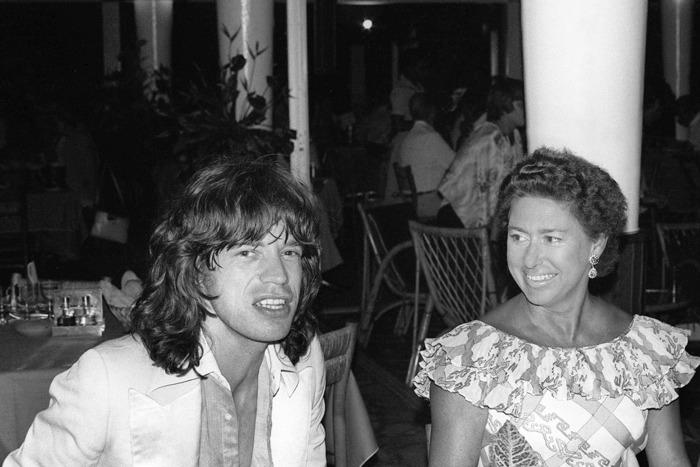 Mick Jagger and Princess Margaret.