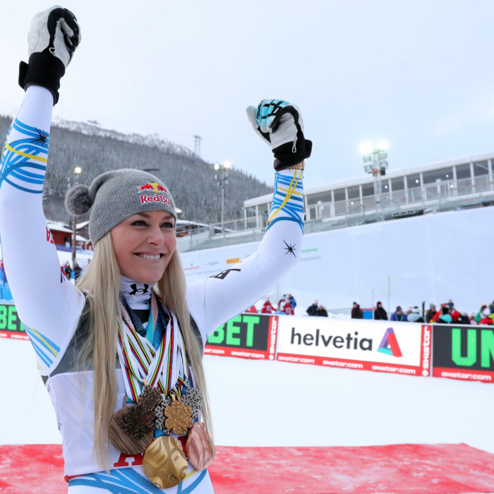 Lindsey Vonn at the World Championships in Sweden.