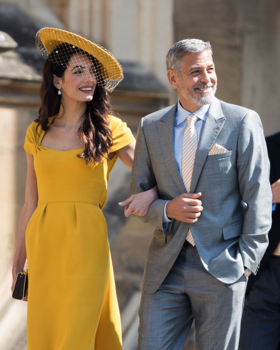 Amal and George Clooney at the royal wedding.