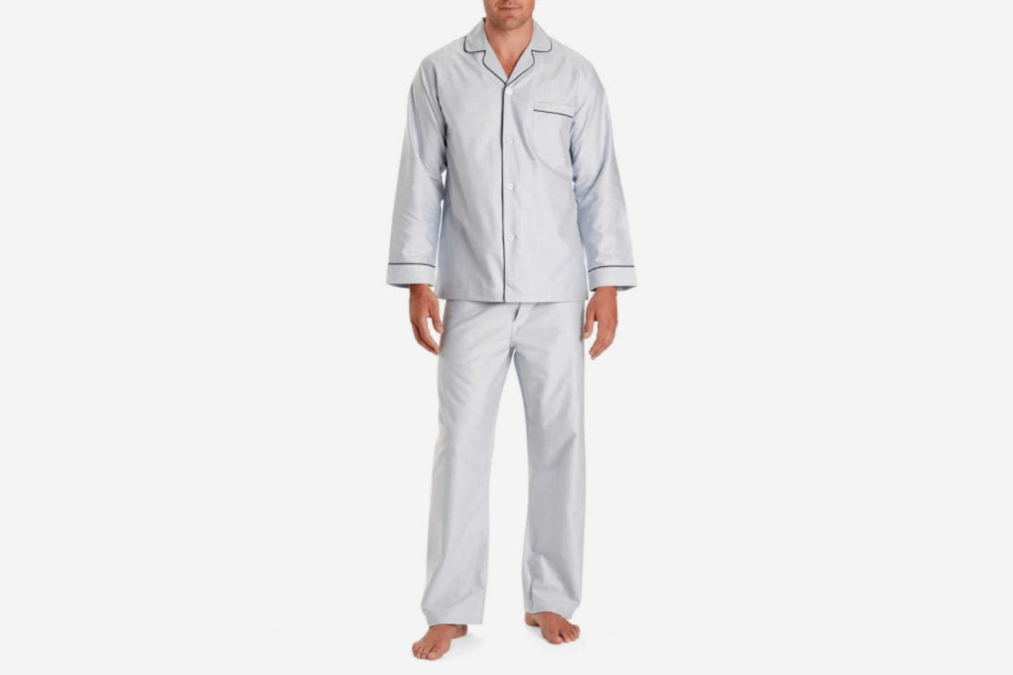 Men's Wrinkle-Resistant Oxford Pajamas