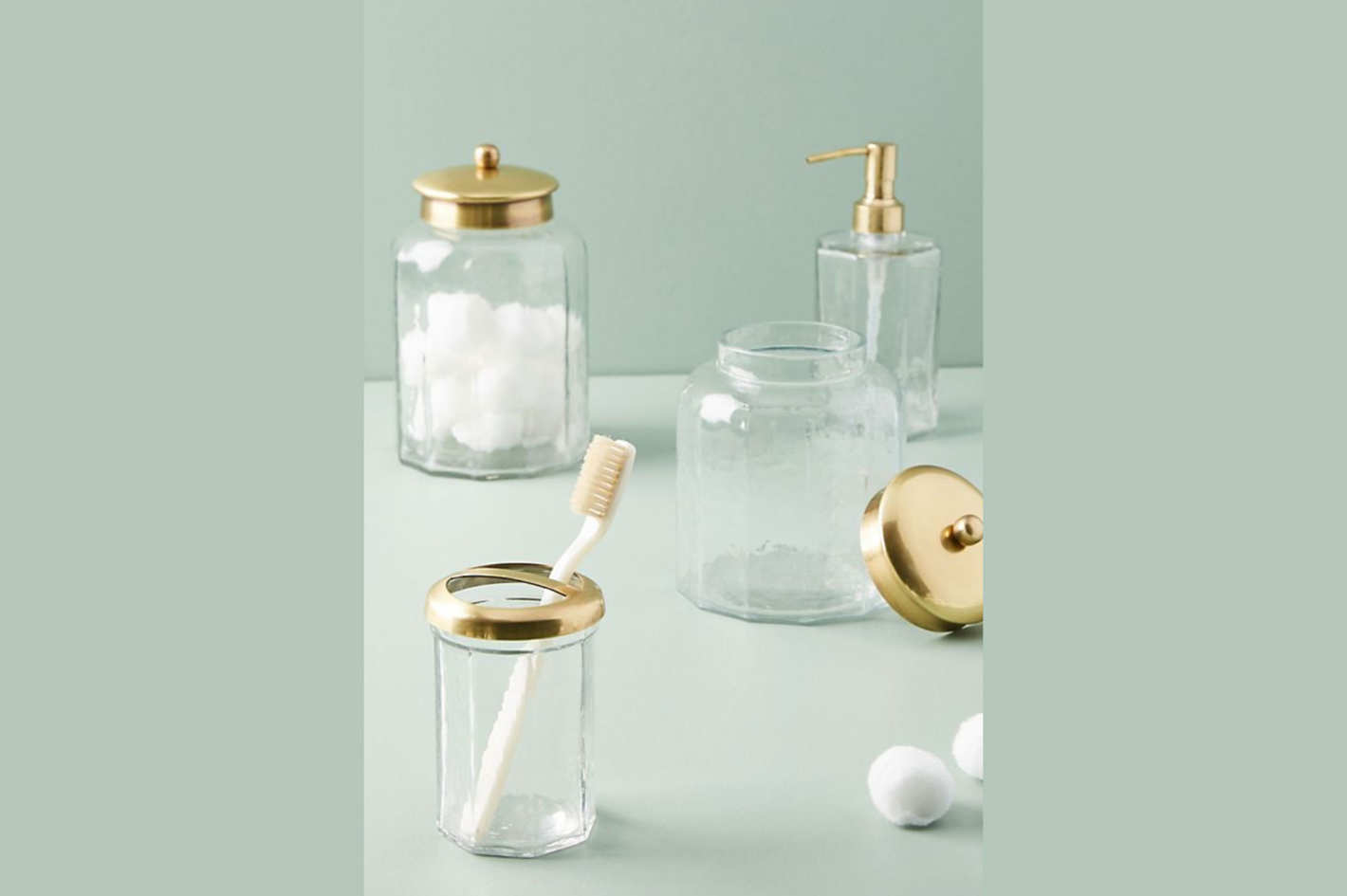 Golden Glass Bath Collection