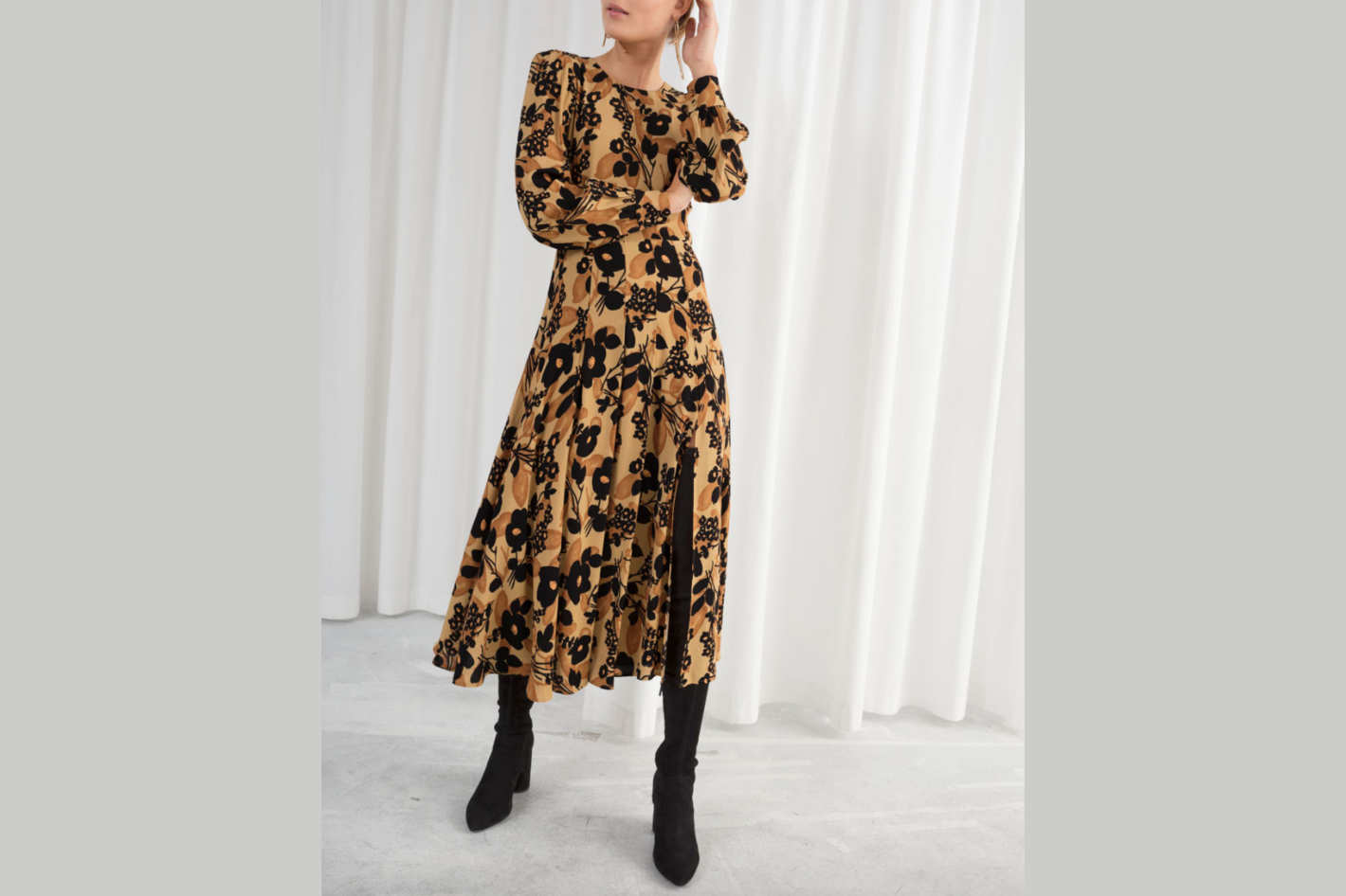 & Other Stories Long-Sleeve Dress