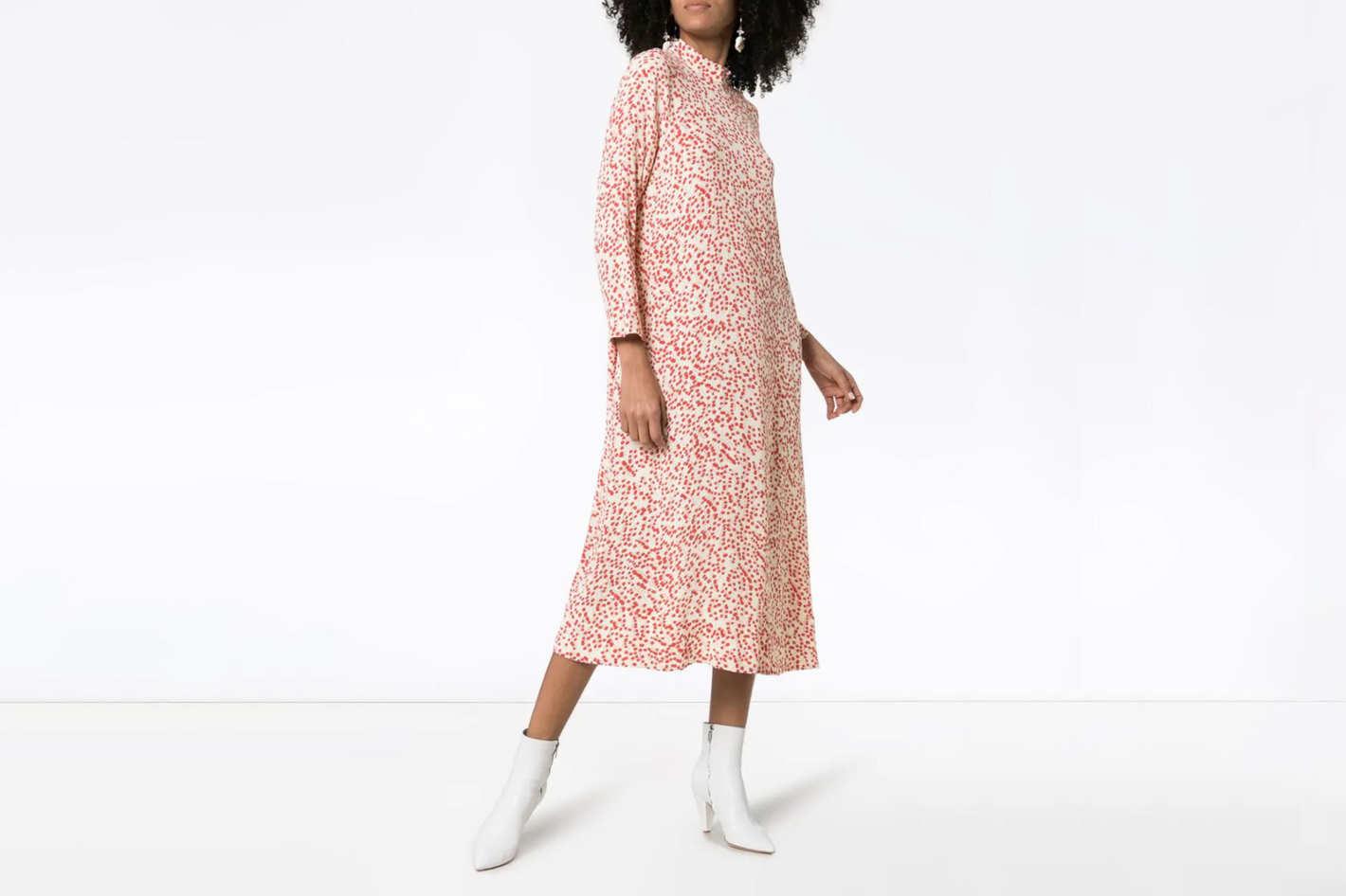 Ganni Goldstone Floral Print Dress